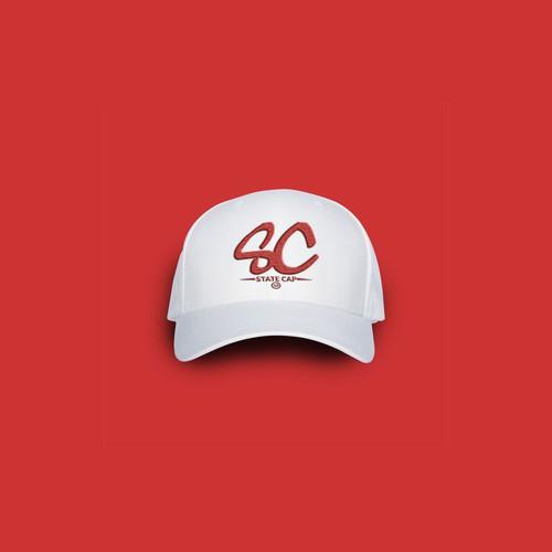 Proposta de design de logotipo para marca de boné STATE CAP