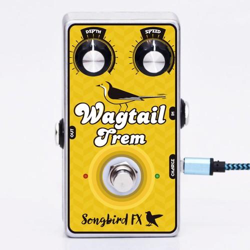 Songbird Fx guitar pedal label design