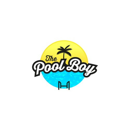 "Create a head-turning logo for ""The Pool Boy"" pool servicing business"