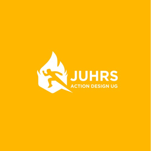 JUHRS Action Design Us Logo | Fire logo | Action logo | TV logo | Training logo | Running Logo