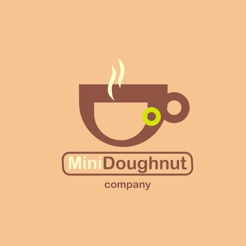 logo for Mini Doughnut and Coffee business