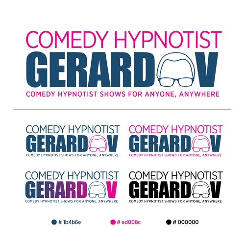 Logo Design of a Comedy Hypnotist Gerard V
