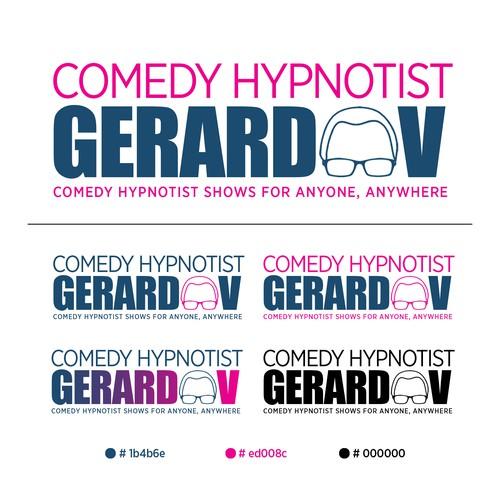 Logo Design of a Comedy Hypnotist Gerard V