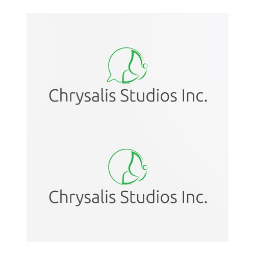 Create a contemporary logo for Chrysalis Studios Inc.