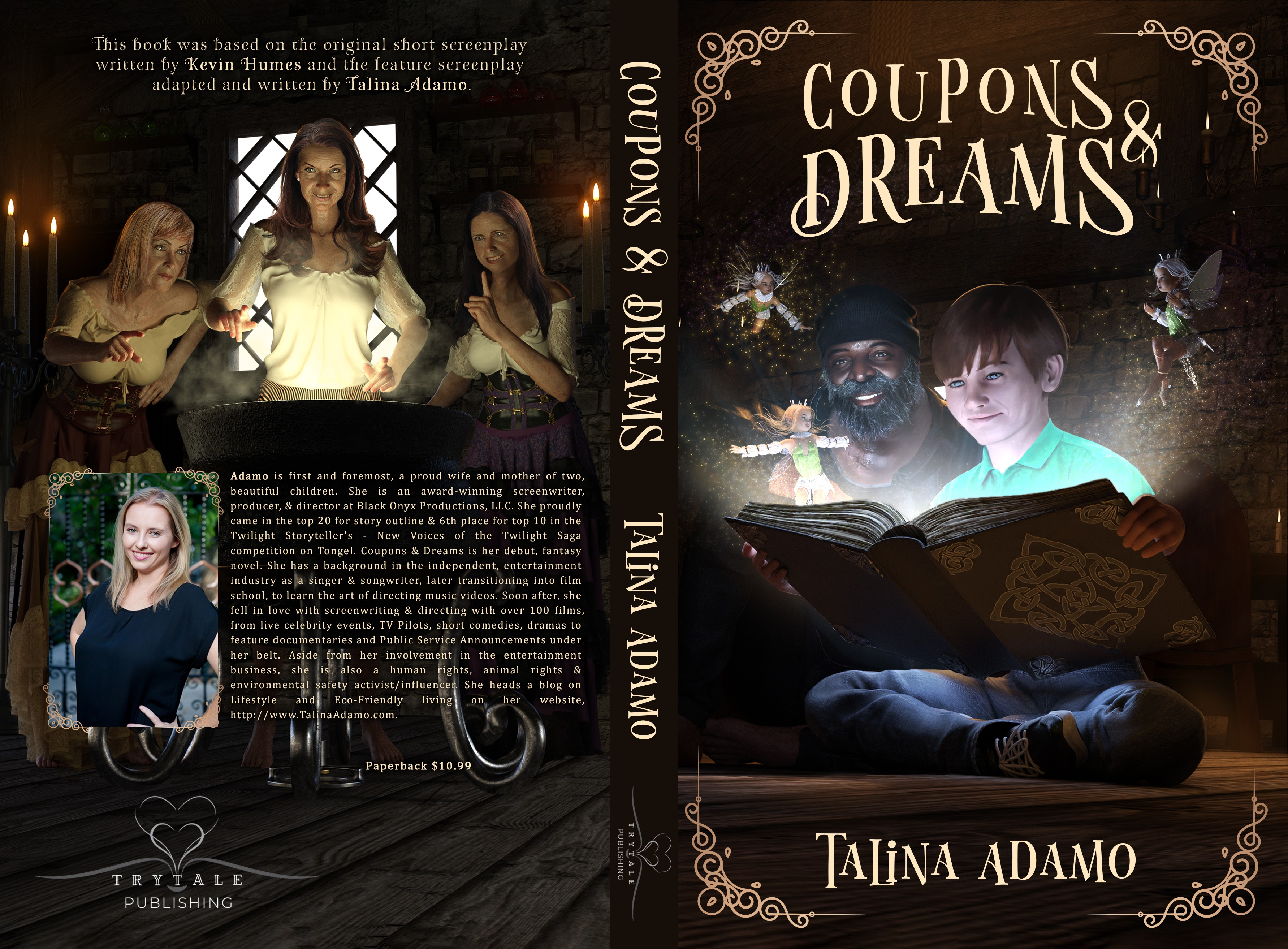 Coupons & Dreams Fantasy Novel needs an Illustrated or Stock Image, Powerful Book Cover
