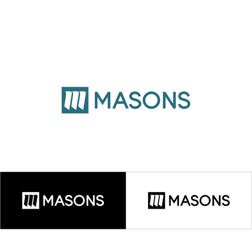Abstract & simple logo for masons
