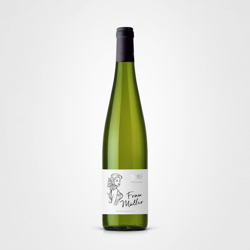 Frau Muller wine label