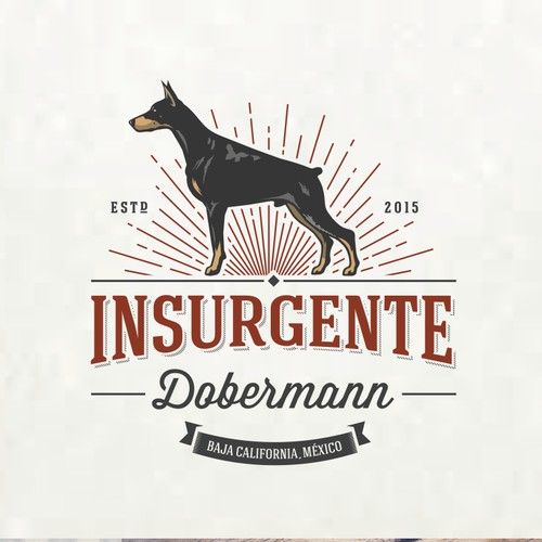 Create a creative and impactful logo design for a Dobermann Breeder