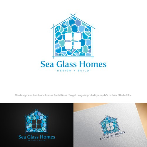 Logo design for sea glass homes