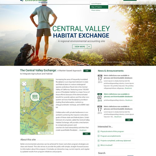 Enviro Accounting site to feature programs + engage landowners & conservationists