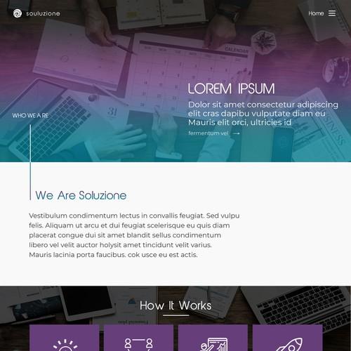Website design for soluzione