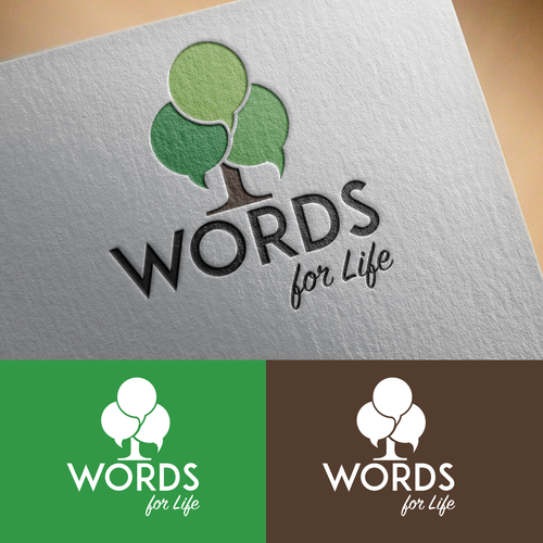Bold logo for Words for Life