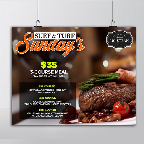 Surf and Turf advertisement