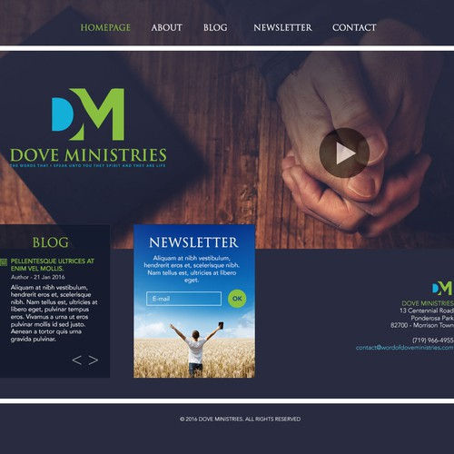 Dove Ministries website