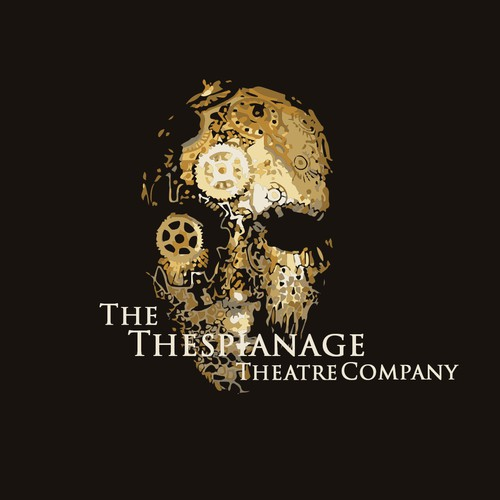 Steampunk styled logo for Theater Comapany