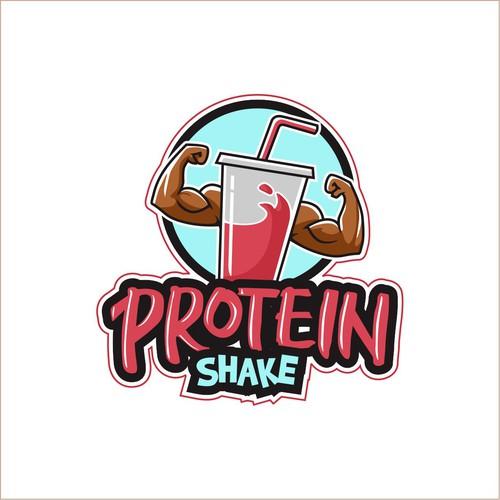 masculine logo for protein shake