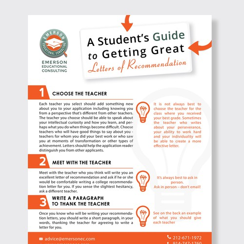Clean look for college guide