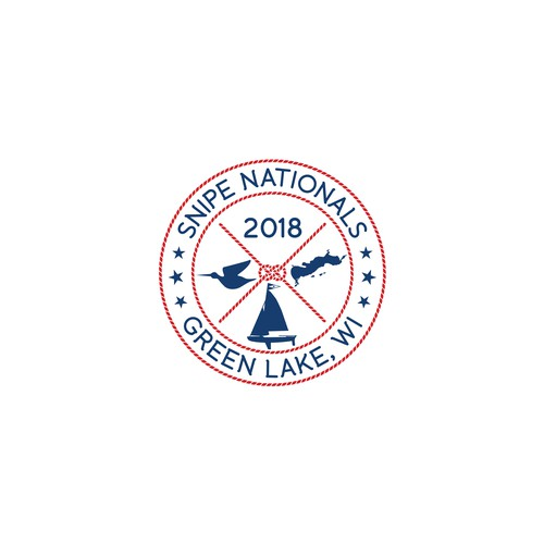 Snipe Nationals 2018 Regatta logo design