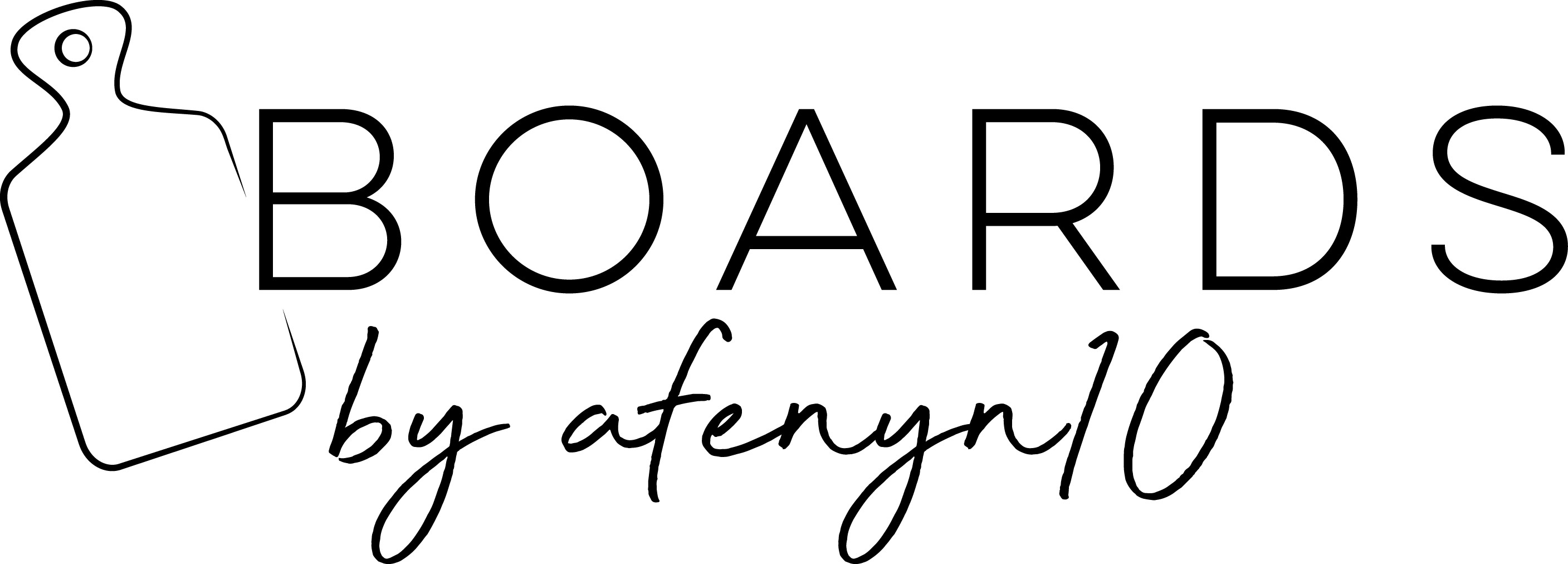fun yet sophisticated logo for a  custom 'board-making' business!