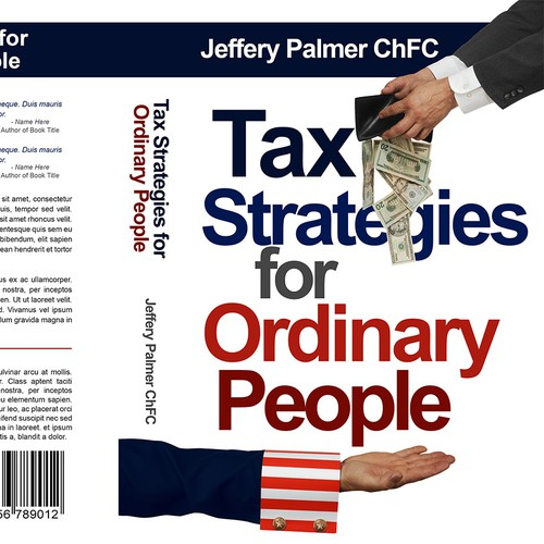 Bold design for book about tax