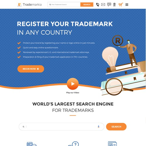 Website for Trademarkia