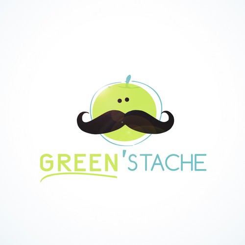 Create the next logo for green 'stache