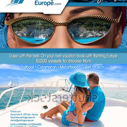 Magazine advertisement for Yachting Europe
