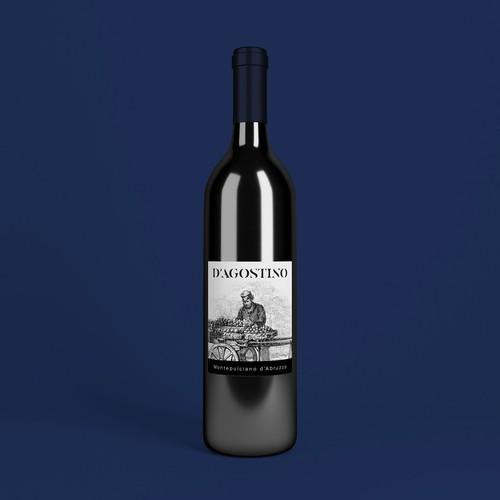 Label design for wine bottle