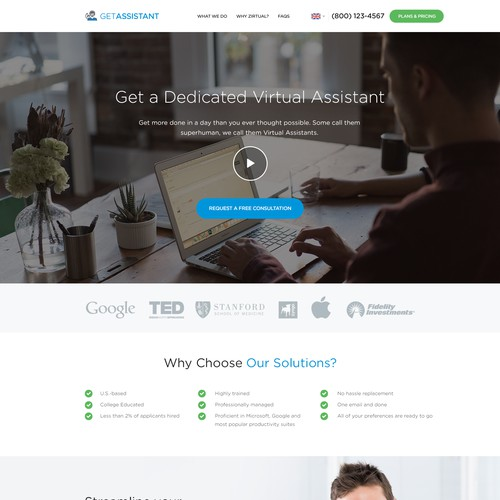 Virtual Assistant Web Design