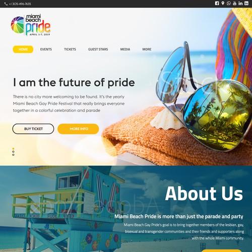 Miami Beach Pride Web Design