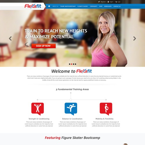 New website design wanted for Flexafit