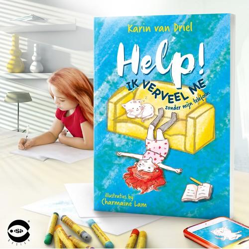 """Book cover for """"Help! Ik Verveel Me"""" by Karin van Driel"""