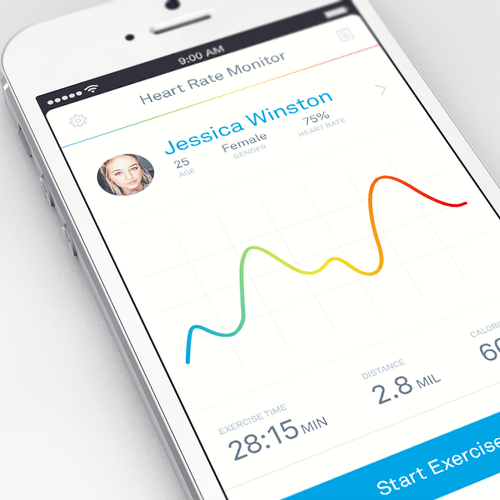 Inspire people to get fitter by designing a better way to view heart rate information