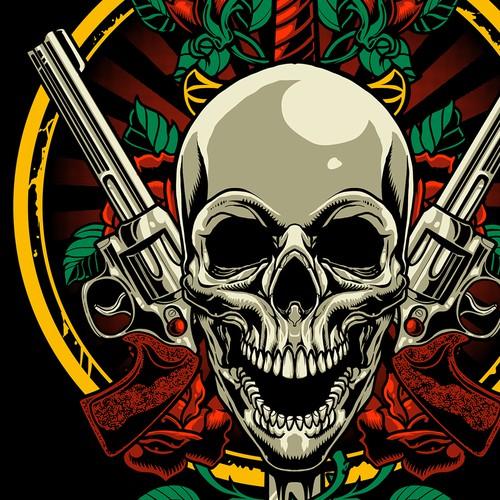 Guns and Roses tshirt design inspired
