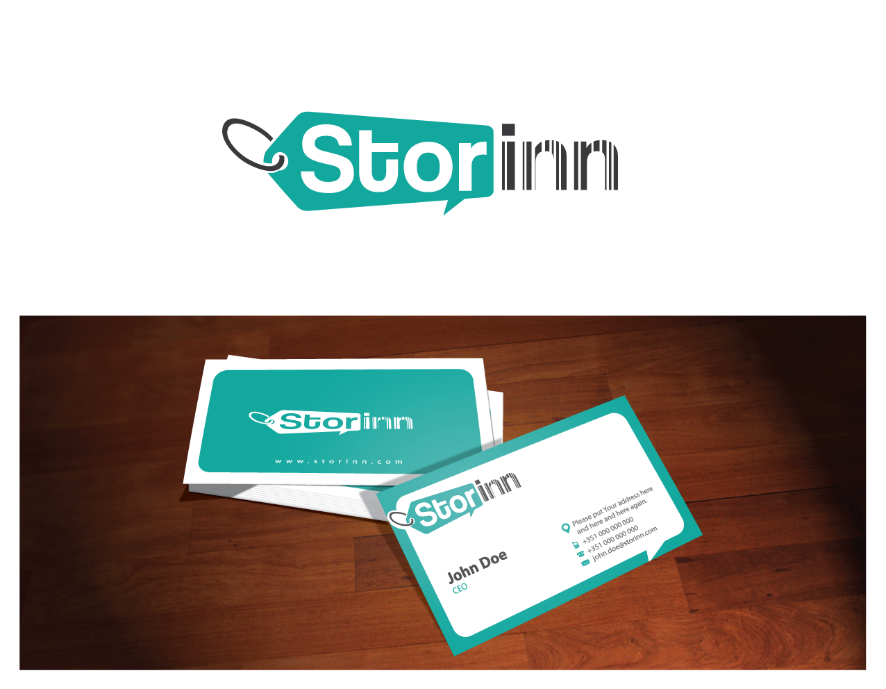 logo and business card for StorInn