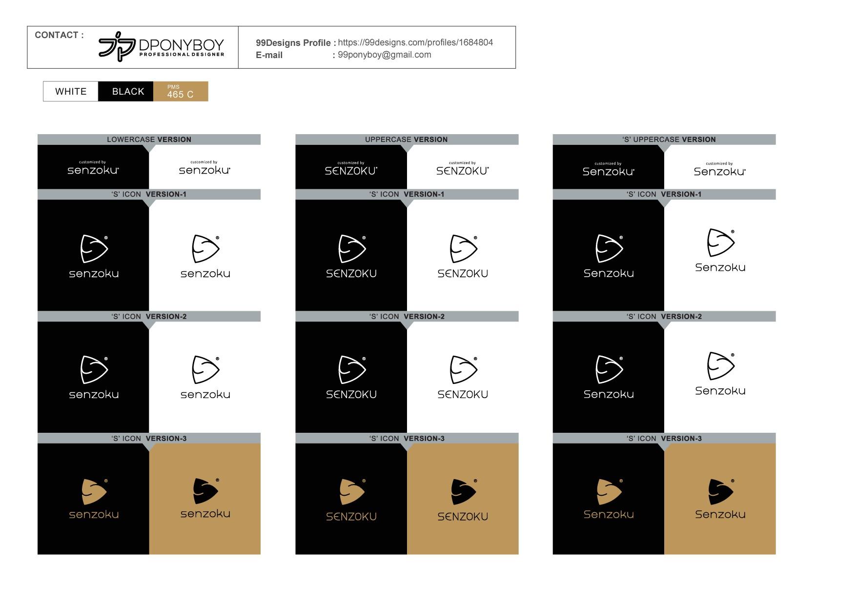 Senzoku - Create modern & eye-catching logo for smartphone case maker!