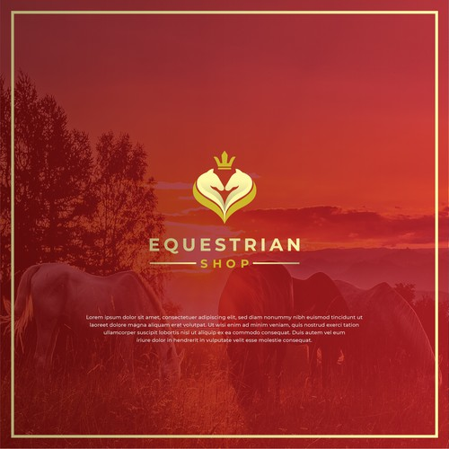 Luxury Logo Concept for Equestrian Shop
