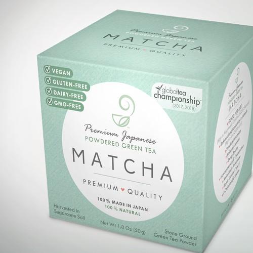 Modern matcha packaging