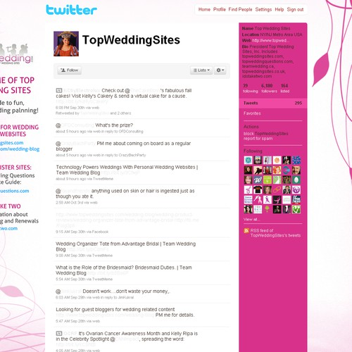 Twitter background - wedding related