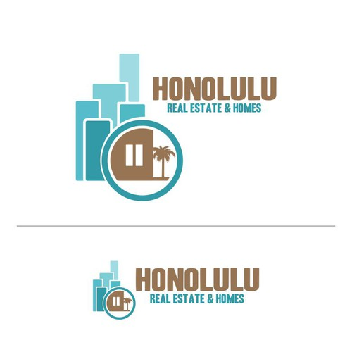 A rich bold but tastefull logo with Hawaiian theme