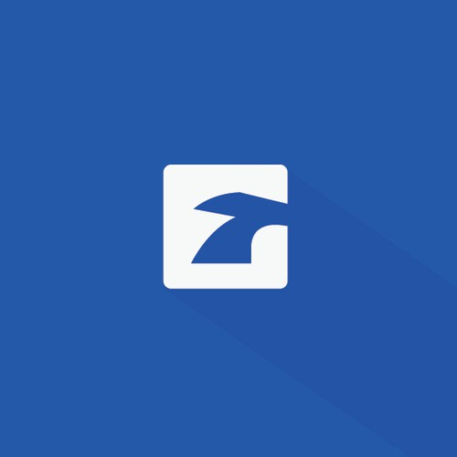 Clean monogram logo design for EchoTrail