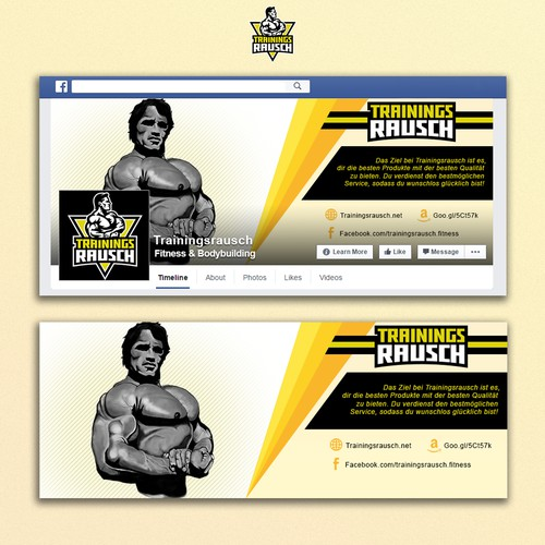 Facebook cover for TrainingsRausch