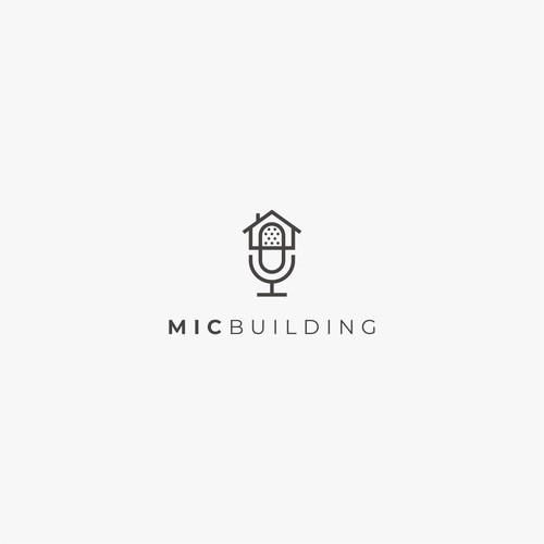 Mic + house logo concept