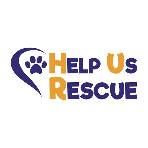 Logo for an organization that rescue senior dogs