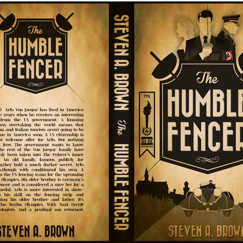 The Humble Fencer - a new 1930s action adventure novel book cover and web banner