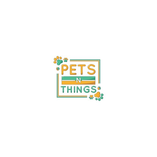 Fun logo for pets n things