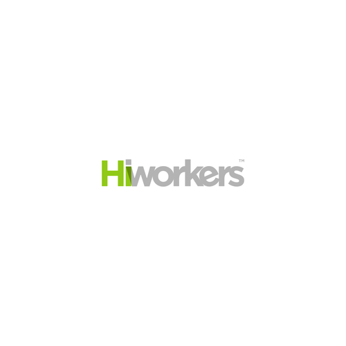 Letter based logo for HiWorkers.