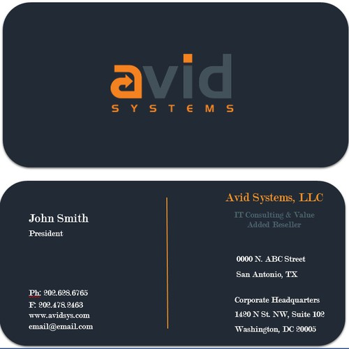Business Card for IT Services Firm