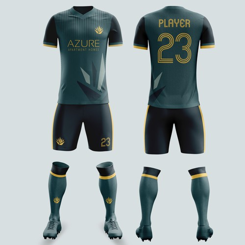 Football/soccer jersey for Azure