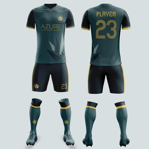 Football/soccer jersey for Azure